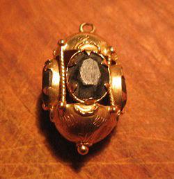 Golden antique pendant