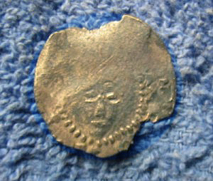 Silver Hammered coin obverse