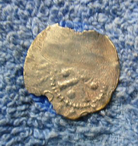 Silver Hammered coin reverse