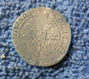 Silver hammered coin of Charles V reverse