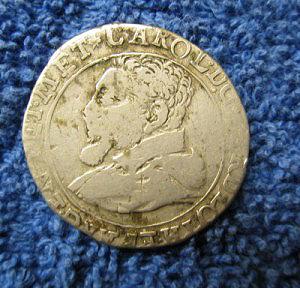 Silver quarter ecu Charles II of Lotharingen obverse