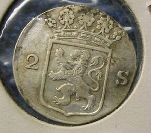 Silver two stuiver reverse