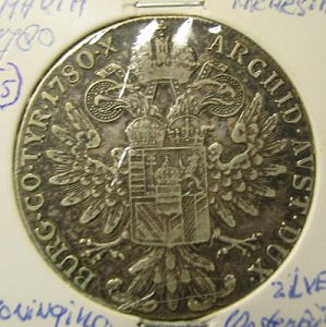 Silver coin of Maria Theresia reverse
