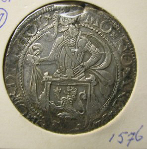 Provincial lion dollar of Holland 1576 front