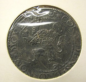 Lion dollar of Holland 1576 reverse