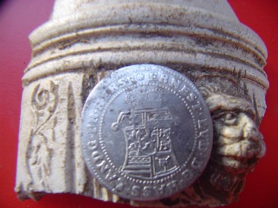 Middeleeuwse 10 Kreuzer zilveren munt 1735 G.K.