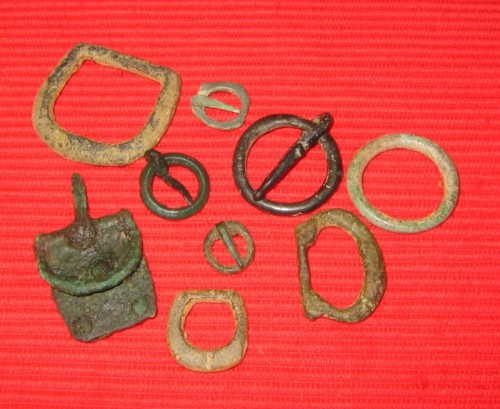 medieval and Roman buckles