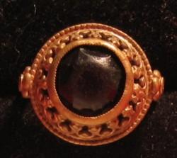 Geel koperen Ring