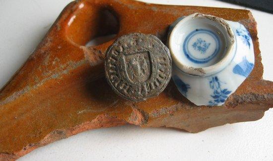 middeleeuwse loden Zegelstempel