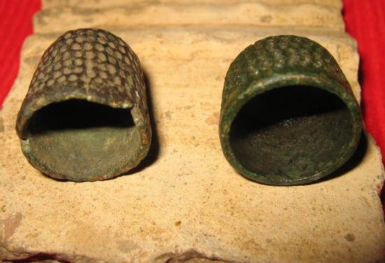 some old thimbles from the side