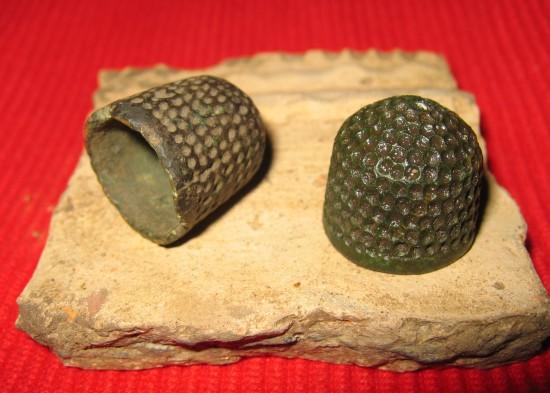 bronze medieval thimble