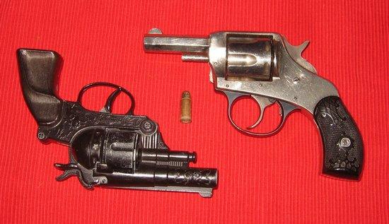 Antieke revolvers