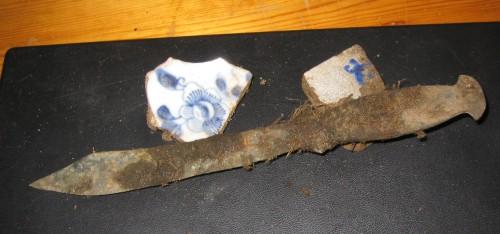 Oude bronzen werpdolk of Werpmes