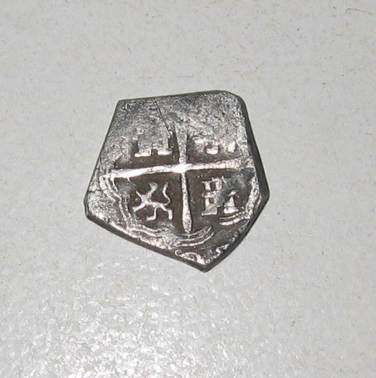 Zilveren Munt Spaanse Mat Metaaldetector Vondsten Site