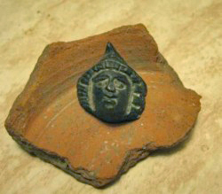 Roman Statue head of god Mercury