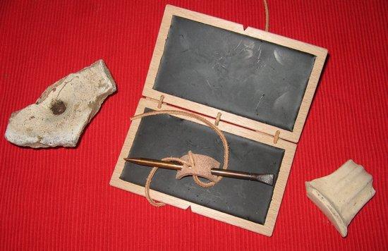 kopie schrijfstift romeins, romeins schrijfgerei