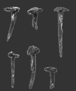 romeinse bronzen sierspijkers