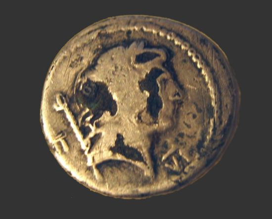 Roman Denarius Emperor Trajan front
