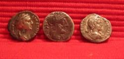 Roman Denarius Geta, Roma and Faustina Senior front side
