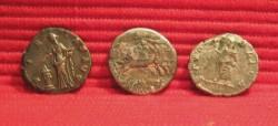 Roman Denarius Geta, Roma and Faustina Senior reverse