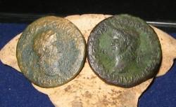 Roman coins Sestertius Nero front